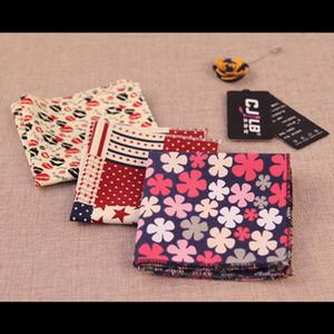 Top Marke Herren Cravat Scarf Taschentücher Frauen Baumwolltasche Kleine Hankies Männer Quadratische Taschen Hanky Taschentuch Für Anzüge Krawatten