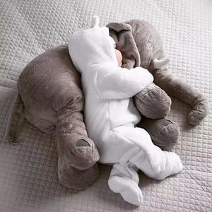 80cm Plush Elephant Toy Baby Sleeping Back Cushion Soft Stuffed Pillow Elephant Doll Newborn Playmate Doll Kids Birthday Gift Y1116