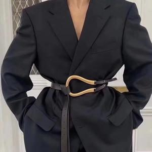 New Fashion Morbido infezione cinghia cinghia da donna Big in lega fibbia sottile doppio strato in vita camicia cintura annodata cintura a vita lunga cinture LJ200921