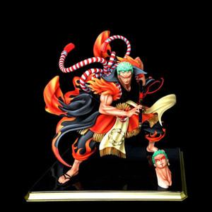 Anime One Piece Zoro Kimono Kabuki Edition Figuras de acción de PVC Colección Modelo Juguetes X0121
