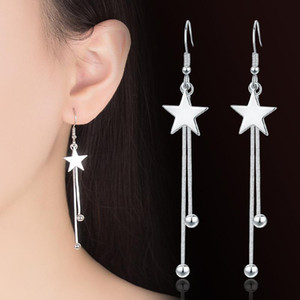 earrings womens designer Stud tassel Long fashion star Suitable for Social gathering party Charm Ear jewelry 925 Silver Ohrringe