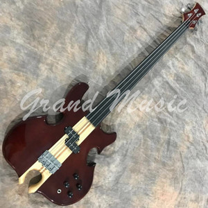 Custom Grand Neck Through Body Cut out Bottom Active Pickup Electric Bass Guitar