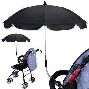 1 Set Baby Carriage Parasol Cochecito de niño Paraguas Plástico UV Protección solar Universal Portable Umbrella1