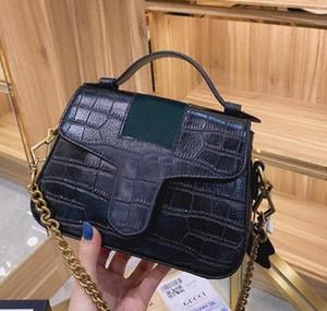 2021 Classic Luxury Designer Runway Schulter Handtasche mit Diamant Gitter Alligator Cross Body Mode Taschen Schwarze Taschen