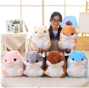 Plush Hamster Cushion Blankets Flannel Air Condition Blanket Cartoon Animal Hamster Toys Multifunction Home Car Decor 4 Colors LQPYW1164