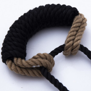 Shibari rope gag BDSM bite gag with rope tie Handmade Bondage toy woman sexy Erotic Toys Silicone Ball Open Mouth Gag Y201118