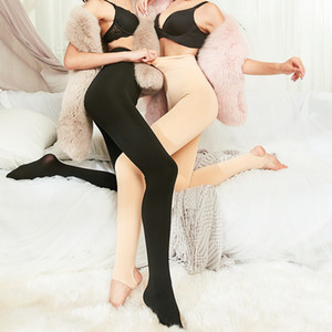 ZJX inverno ispessimento Girls Spessa velluto Legging Legging in nylon Leggings Donne Pantaloni elastici caldi Q1119