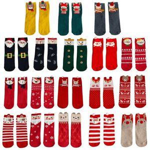 Women Christmas 3D Cartoon Animal Santa Crew Socks Japanese Style Kawaii Mid-Calf Tube Hosiery New Year Holiday Gifts