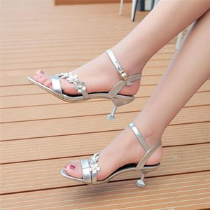 2020 New Women Fashion Solid Thin Heels Sandals Buckle Strap Work Shoes Flat With Sandals Women summer causal Shoes #SA