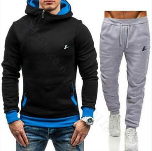 Big Size 3XL Mens Tracksuit Fashion Designer jackets + pants 2 Piece Sets Solid Color Brand Outfit Suits Sportswear Suit Tracksuits for Men