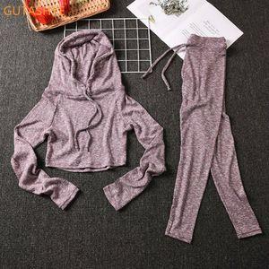 Gutashye Training Kleidung Gym Sport Tragen Für Frauen Kleidung Athletische Yoga Set Y1229