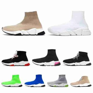 Selling top quality lace up black red beige sock shoes trainers women mens designer sock shoes tripler balenciaca shoes sneakers