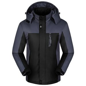 Men Winter Long Sleeve Warm Hooded Zip Thick Fleece Coat Outwear Wind Jacket parka
