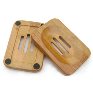Natural Bamboo Wood Soap Rack Wooden Soap Case Holder Tray Dish Storage Plate Box Container For Bath Shower Bathroom AHB3308