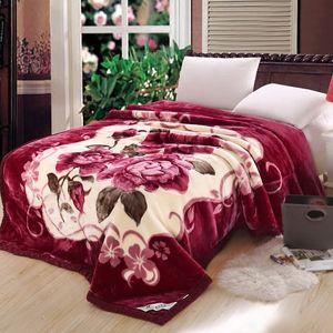VESCOVO queen size Flannel Fleece Throw Blanket Soft Cashmere Blanket king size Warm quilt Bedspread 220*240 201113