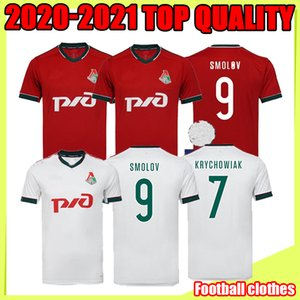 20 21 Lokomotiv Moscou troisième Jersey de football 2020 Accueil N ° 6 Barinov # 7 Krychowiak # 9 Smolov # 17 Zhemaletdinov Chemise de football Uniformes