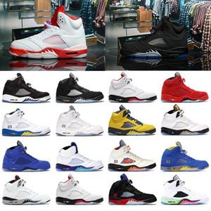 Новые эксклюзивные 5 5s мужские баскетбольные туфли замшевые красные семейные черные свежие принц-лани-королевские мужские спортивные тренажеры обувь кроссовки