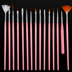 Nail Art Brush Kit Gel Nail Polish Pens Prego Prego Acryic Pó 3D Pintura 3D Escultura Linha Manicure Set