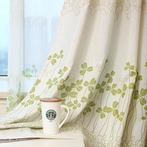 Curtains for Living Room Hot Sale Real Cafe Hotel Curtain Printed For The Bedroom Faux Kids room Voile Drapes