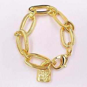Nueva pulsera de oro auténtico impresionante amistad pulseras Uno de 50 joyería plateada se adapta al regalo de estilo europeo para mujeres hombres pul0949ORO0000m