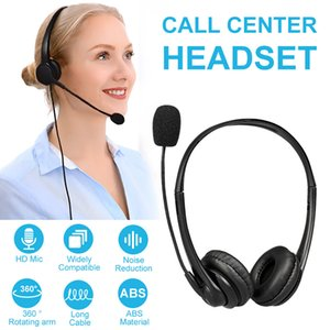 Office Wired Headset With Microphone Call Center Headphone with Noise Canceling Mic for Mpow Computer Phones USB Desktop Boxes Y1128