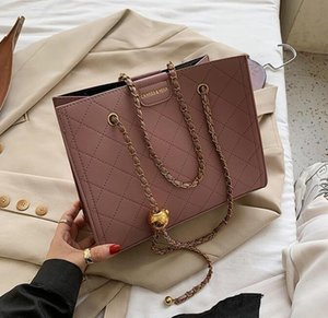 Lingge Embroidery Thread Ladies One-shoulder Underarm Bag Women New Fashion All-match Chain Messenger Bag Square CC Style