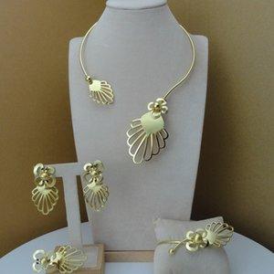 YUMINGLAI DUBAI Jewlery fino exquisito Joyería Conjuntos Collar para Mujeres FHK8072 Z1201
