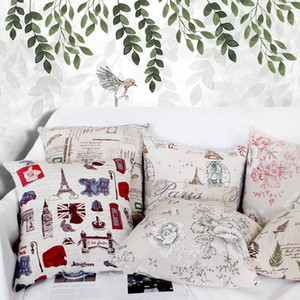 Free Shipping Custom 40 45 50 55 60 65cm Polyester Linen Fabric Printing Cushion Cover HT-PLCPC-A