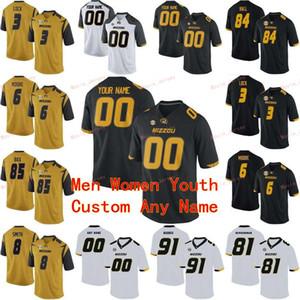 Cucito Personalizzato 12 Johnathon Johnson 13 Kam Scott 14 Dominic Gicinto 16 Damarea Crockett Missouri Tigers College Men Donne Gioventù Jersey