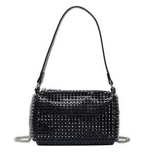 Satchel Diamond Rviet Bags for Women New Luxury Handbags and Purses Crossbody Bag Female Brand Designer Chain Shoulder Hand Bag