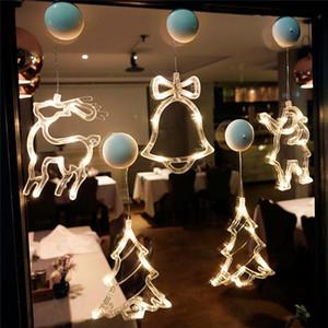 1Pcs Christmas Hanging Lights Decoration Home Party Atmosphere Scene Ornaments Santa Claus LED Pendent 2021 Festive Supplies