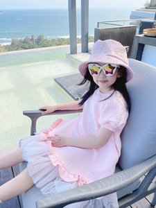 2021 고품질의 새로운 여름 패션 소녀 공주 드레스 우아한 아기 소녀 레이스 드레스 아이 소녀 생일 파티 드레스 유아 의류