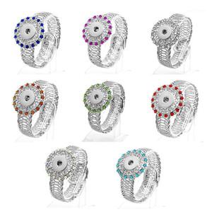 Braccialetti di fascino all'ingrosso- moda regolabile resiliente scatti braccialetti charms strass fit da 18-20mm pulsante gioielli braccialetto per le donne ZE06