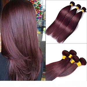 CE CERTIFICADO CERTIFICADO Marca al por mayor Distribuidores al por mayor Weave Hair Weave 10a Brasileño Color de cabello 99J BUG BUG HUMAN HEAD WEAVE 3BUTTES