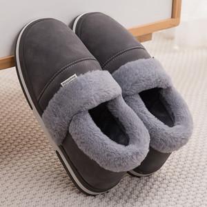 Winter Woman Platform Velvet Ladies Waterproof Flock Warm Home Slippers Soft Comfy Women Shoes 201203