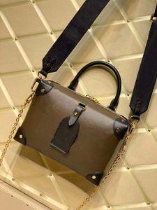 100% Gerçek Deri Son Renk Lady'nin Petite Malle Souple Çanta Çanta Popüler Bayan Çanta Üst Moda Omuz Çantası Messenger Çanta Çanta