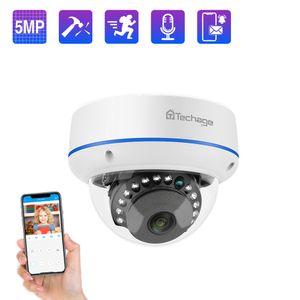 Techage 2MP 5MP الأمن PoE كاميرا 48V قبة في الهواء الطلق كاميرا IP في الأماكن المغلقة شبكة فيديو كاميرا مراقبة Onvif لنظام PoE NVR 201203