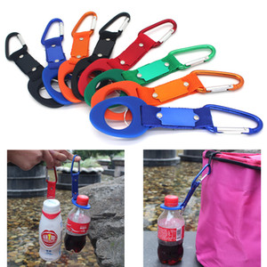 Water Bottle Holder With Hang Buckle Carabiner Clip Key Ring Fit Cola Bottle Shaped For Daily Outdoor Use Rubber Carrier DHD3454