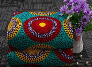 Nouveau Arriver Polyester Cire Prints Tissu Ankara Binta Real Wax Haute Qualité 6 mètres / Lot Tissu africain pour la tenue de soirée