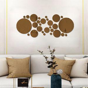 Acrílico Decoración para el hogar Muro Palillo Porche Sala de estar Stickers Stickers Big Pequeño Círculo Dormitorio Tiles Decal Corredor Art Decorate NUEVO 4 6HY G2