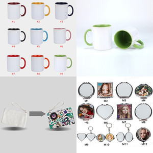 Sublimation Tasses à café 9 Sstyles Polyester Sublimation Blanches Portefeuille Sublimation Maquillage Mirror Favor Favor Coque iPhone XD24402