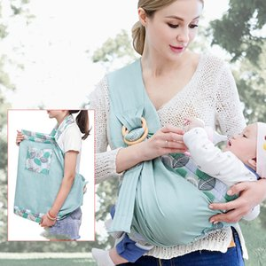 Baby Wrap Sling Carrier Dual Use Infant Nursing Cover Adjustable Mesh Fabric Breastfeeding Cover Load Up to 20KG (0-36M) Z1127