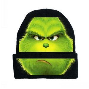 2020 크리스마스 녹색 털이 괴물 Grinch 모자 코스프레 애니메이션 만화 남성과 여성 야외 사이클링 따뜻한 니트 모자 사용자 정의