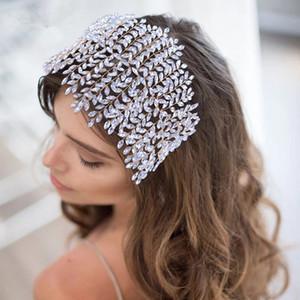 Lüks Kristal Gelin Tiara Düğün Saç Takı Gül Pembe Altın Rhinestone Gelin Saç Aksesuarları Düğün Başlıkları