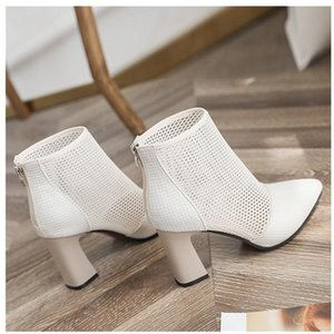 New Style Spring Autumn Fashion Comforty Women Shoes Pure Color Women Pointed Toe Hight Heel Sexy Mesh Ventilation Casual Shoes