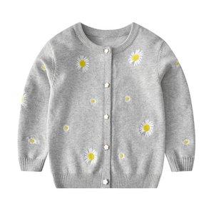 Mudipanda enfants filles cardigan cardigan chandails printemps automne bébé fille solide coton pull veste enfants tricoté enfants chandails filles