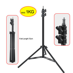 2.1M Heavy Duty Metal 2m Light Stand For Photo Studio Relfectors Softbox Max Load to 1KG Tripod Video Background Stand