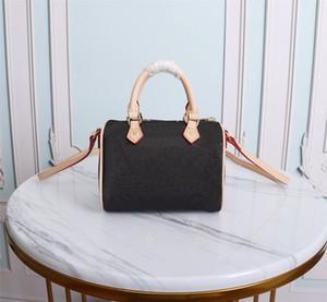 Diseñadores de lujos de alta calidad Mujeres bolsas de mujer Moda femenina Crossbody Hombro Mini nano Bolsa Speedy M61252 con caja de bolso de polvo Venta al medio