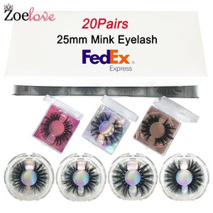 3d Mink Lashes Set 20 Pairs Wholesale False Eyelashes Vendor Makeup Eyelash Packaging Box Dramatic 25mm Mink Lashes Bulk