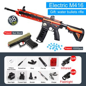 Electric Blaster Water Toy Guns M416 Safety Gel Ball Bullet Outdoor Sports Rifle Snipe Weapon Gun Game Pistol Toys For Boys Q1123